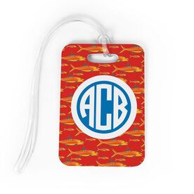 Fly Fishing Bag/Luggage Tag - Personalized Fly Fishing Pattern Monogram