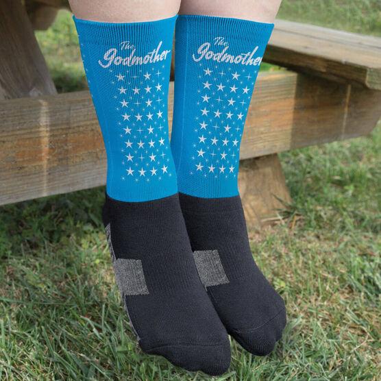 Printed Mid-Calf Socks - The Godmother