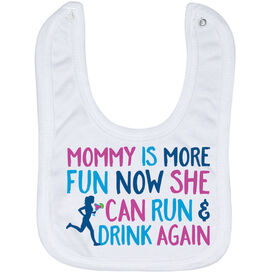 Running Baby Bib - Mommy Is More Fun Now