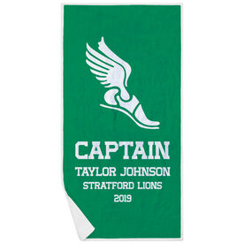 Track & Field Premium Beach Towel - Personalized Captain