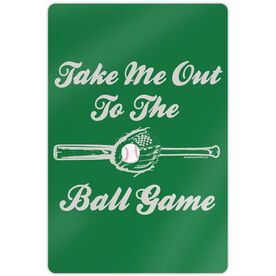 """Baseball Aluminum Room Sign (18""""x12"""") Take Me Out To The Ball Game"""