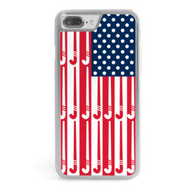 Field Hockey iPhone® Case - American Flag