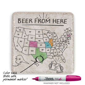 Stone Coaster - Beer From Here