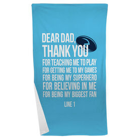 Rugby Beach Towel Dear Dad