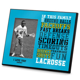 Lacrosse Personalized Photo Frame We Do Lacrosse
