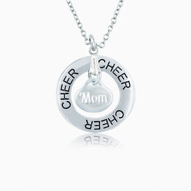 Cheer Mom Message Ring Necklace