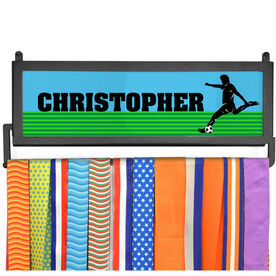 AthletesWALL Medal Display - Personalized Soccer Guy
