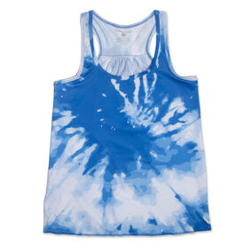 RunTechnology® Performance Tank Top - Blue Sky Tie-Dye