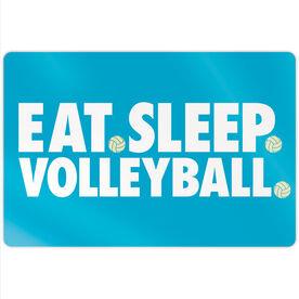 "Volleyball 18"" X 12"" Aluminum Room Sign - Eat Sleep Volleyball"
