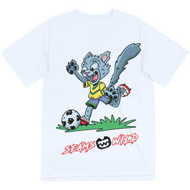 Seams Wild Soccer Short Sleeve Tech Tee - Scratch