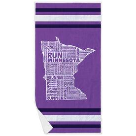 Running Premium Beach Towel - Minnesota State Runner