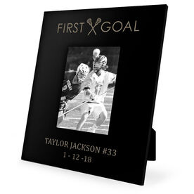Guys Lacrosse Engraved Picture Frame - First Goal