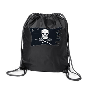 Guys Lacrosse Sport Pack Cinch Sack - Lax Pirate Flag