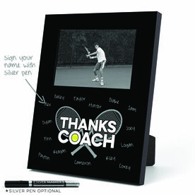 Tennis Photo Frame - Thanks Coach