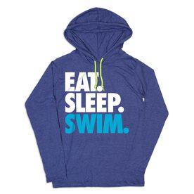 Women's Swimming Lightweight Hoodie - Eat Sleep Swim