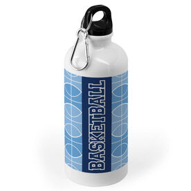 Basketball 20 oz. Stainless Steel Water Bottle - Word With Pattern