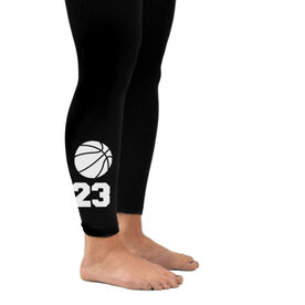 Basketball Leggings Basketball Icon with Number