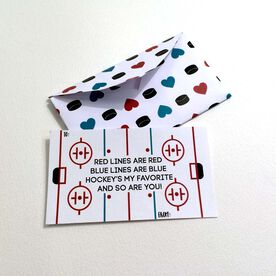Hockey's My Favorite Valentine's Day Card