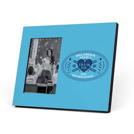 Personalized Teacher Photo Frame - Heart Crest