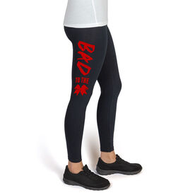 Cheerleading High Print Leggings Bad to the Bow