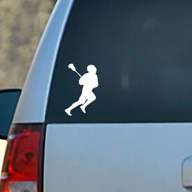 Vinyl Car Decal Running Laxer Silhouette