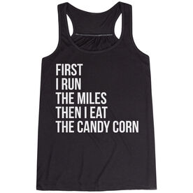 Flowy Racerback Tank Top - Then I Eat The Candy Corn