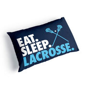 Guys Lacrosse Pillowcase - Eat Sleep Lacrosse