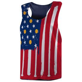 Softball Racerback Pinnie - American Flag