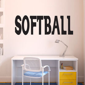 Softball Written Out Removable ChalkTalkGraphix Wall Decal