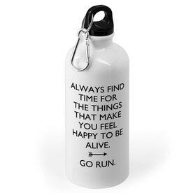 Running 20 oz. Stainless Steel Water Bottle - Always Find Time