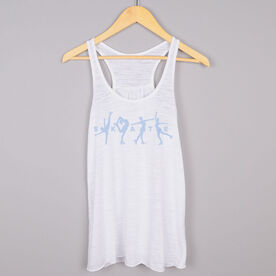 Figure Skating Flowy Racerback Tank Top - Skate with Silhouettes