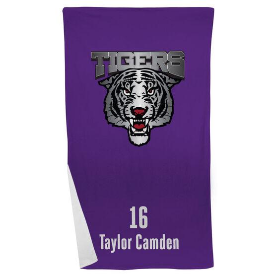 Rugby Beach Towel Custom Team Logo