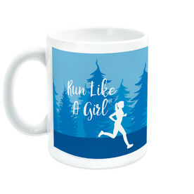 Running Coffee Mug - Run Like A Girl