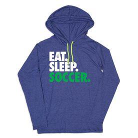 Men's Soccer Lightweight Hoodie - Eat Sleep Soccer