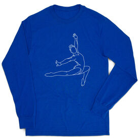 Gymnastics Tshirt Long Sleeve - Gymnast Sketch