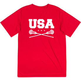 Guys Lacrosse Short Sleeve Performance Tee - USA Lacrosse