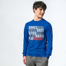 Hockey Tshirt Long Sleeve - Bones Saying