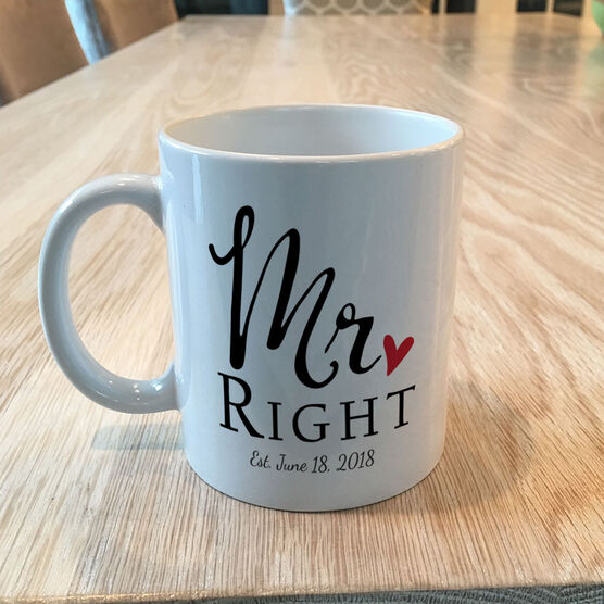 Personalized Coffee Mug Set - Mr. Right and Mrs. Always Right Set