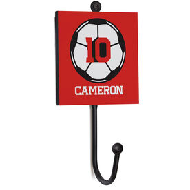 Soccer Medal Hook - Soccer Ball With Name And Number
