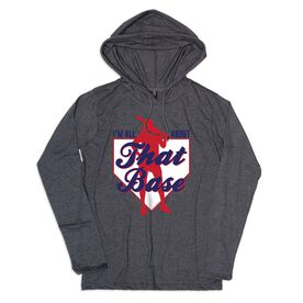 Women's Softball Lightweight Hoodie - I'm All About that Base