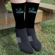 Gymnastics Printed Mid-Calf Socks - Your Logo