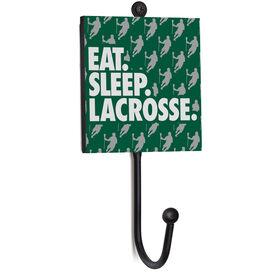 Guys Lacrosse Medal Hook - Eat. Sleep. Lacrosse.