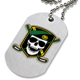 Death Match Hockey Printed Dog Tag Necklace