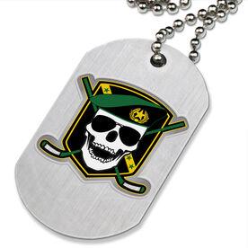 Death Match Hockey Printed Dog Tag Necklace