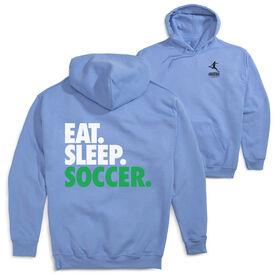 Soccer Hooded Sweatshirt - Eat. Sleep. Soccer (Logo Collection)