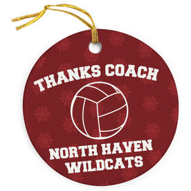 Volleyball Porcelain Ornament Thanks Coach Volleyball