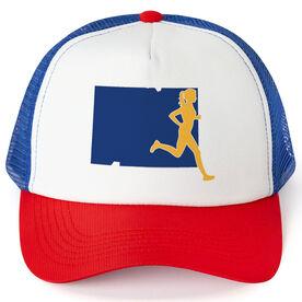 Running Trucker Hat - Colorado Female Runner