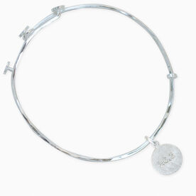 Livia Collection Sterling Silver Matte 26.2 Adjustable Bangle