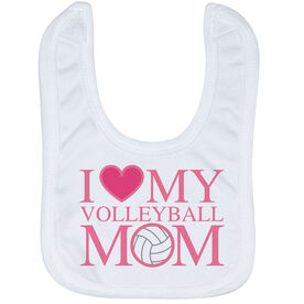 Volleyball Baby Bib - I Love My Volleyball Mom