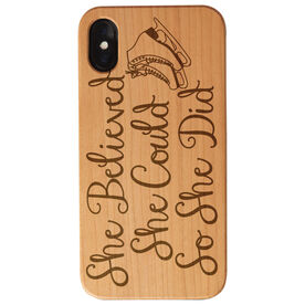Figure Skating Engraved Wood IPhone® Case - She Believed She Could